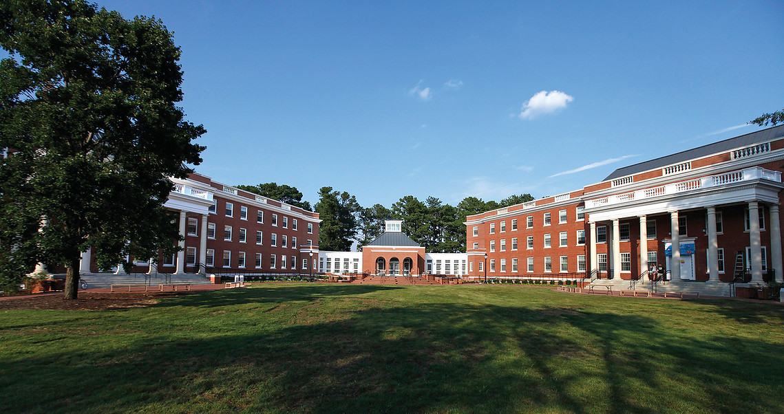 The  Randolph- Mason Hall dorm complex at UMW, photographed Thursday August 23 2012. (Photo by Norm Shafer).